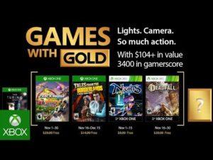 Estos son los juegos de Games with Gold para Noviembre 2017