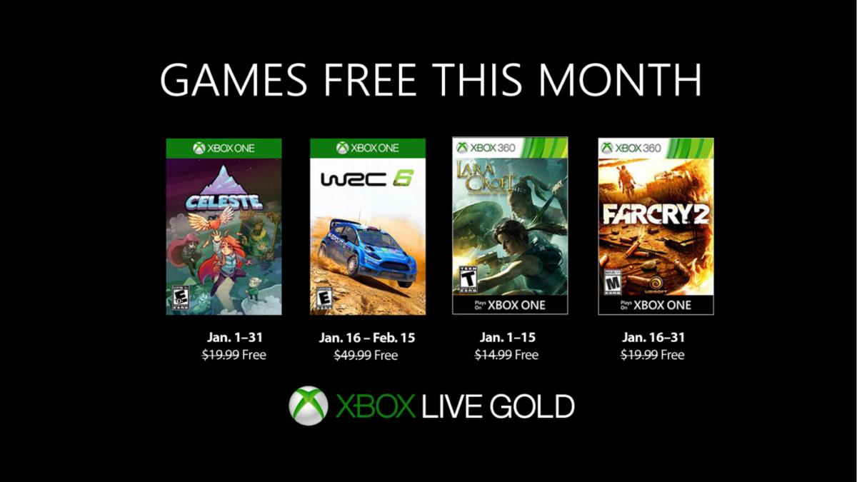 Xbox arranca el año 2019 con estos juegos gratuitos de Games with Gold