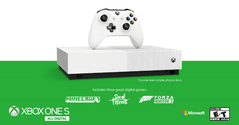 All Digital Edition: El nuevo Xbox One S sin lector de discos