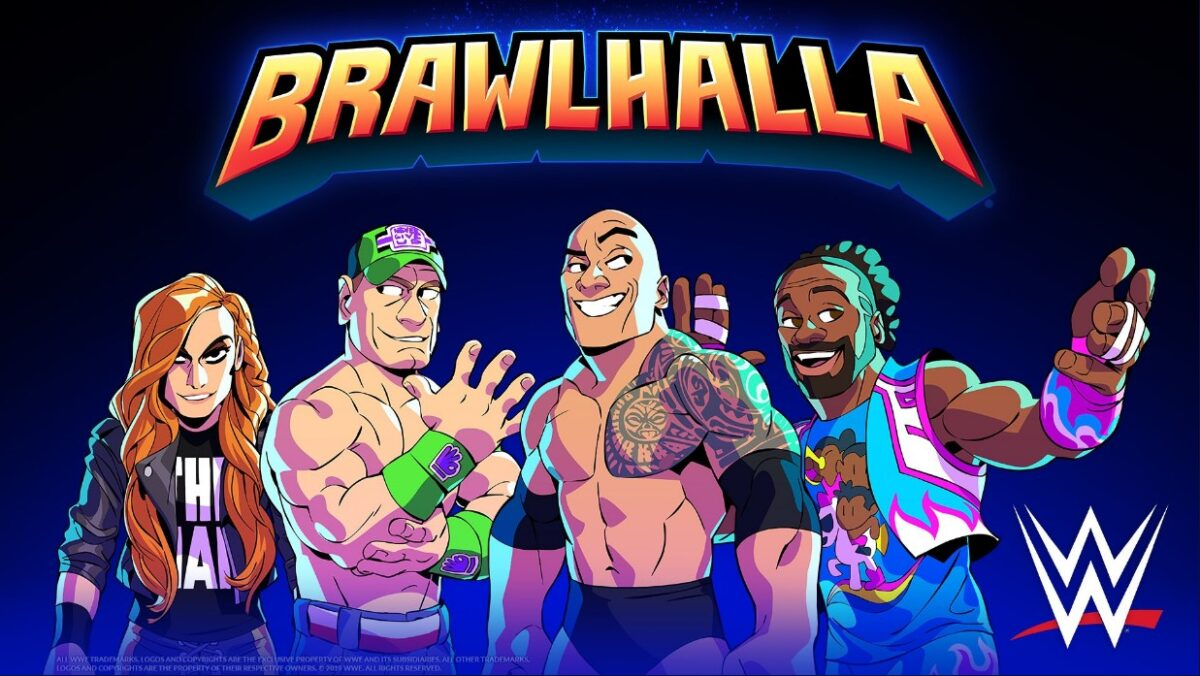 Las superestrellas de WWE The Rock, John Cena, Becky Lynch y Xavier Woods se unen a Brawlhalla
